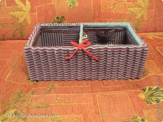 Я её слепила из того,что было!))))бывшая коробка из под обуви. фото 2