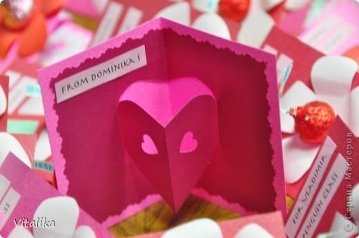 Такие открыточки делала на Валентинов день Доминике в школу. фото 4
