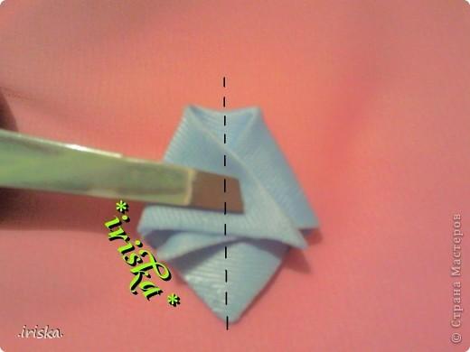 Мастер-класс Поделка изделие Украшение Цумами Канзаши МК лепесток Шиловидный флокс Ленты Ткань фото 5