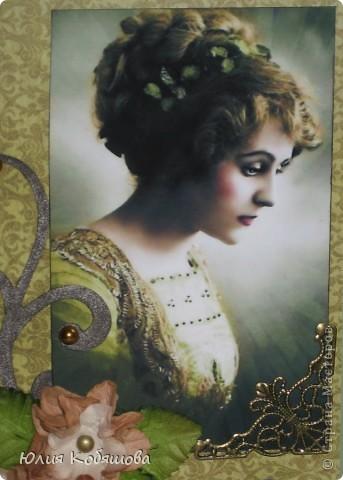 Сегодня показываю вам мои новые открытки в совсем не характерной для меня цветовой гамме. С таким темным фоном у меня еще открыток не было, поэтому хотелось бы узнать ваше мнение, уважаемые мастерицы, может что-то не так, или чего-то не хватает? фото 3