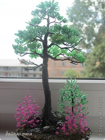 Бисерные деревья фото 6