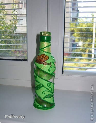 Добрый день, Страна!    Все-таки не удержалась и раскрасила в зеленый еще несколько вещиц.  Теперь в моей кухонной коллекции 8 предметов  ( http://stranamasterov.ru/node/400556 ). фото 5