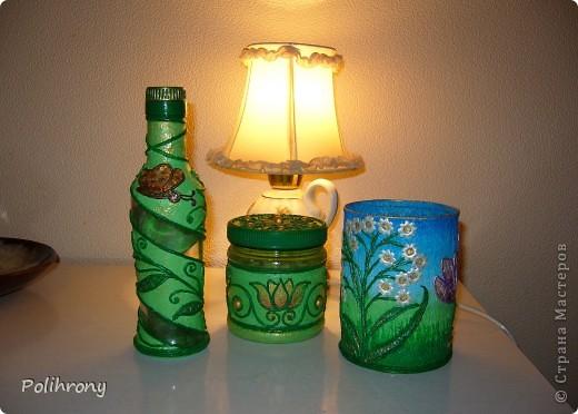 Добрый день, Страна!    Все-таки не удержалась и раскрасила в зеленый еще несколько вещиц.  Теперь в моей кухонной коллекции 8 предметов  ( http://stranamasterov.ru/node/400556 ). фото 1