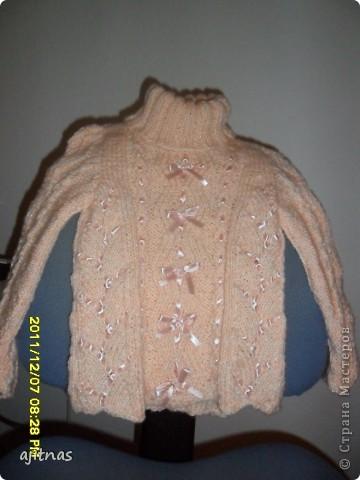 Детский свитер с воротником фото 1