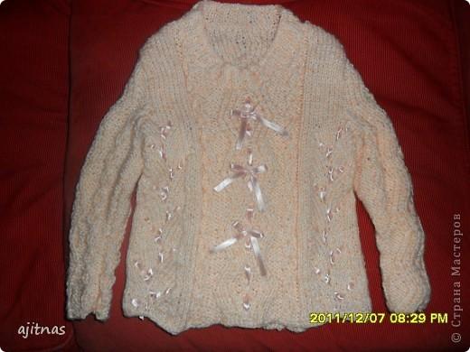 Детский свитер с воротником фото 2