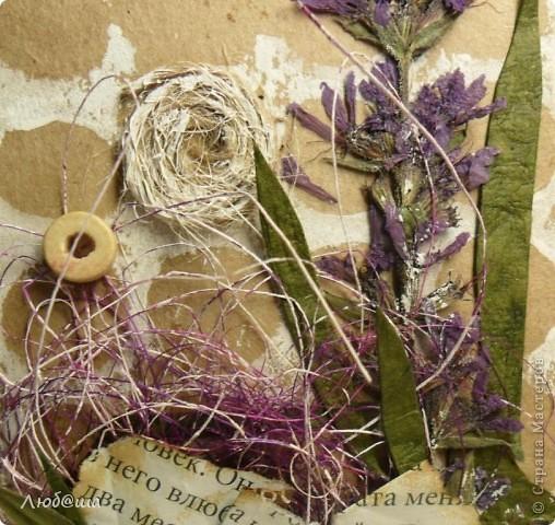 Доброго времени суток!!! Сегодня я с открыточкой с засушенным цветочком. фото 3