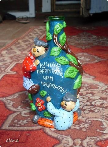 Бутылка с приколом.Сделана по просьбе. фото 2