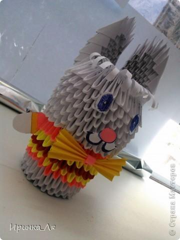 Всем привет! Увлекаться модульным оригами,я начала не так давно...в конце июня нынешнего года)Не судите строго! Это моя первая поделка.Пара лебедей) фото 9