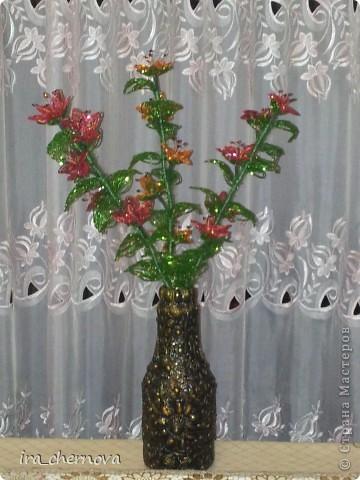 Цветочки в вазе, которую представляла раньше. Доплела еще две веточки, чтобы был настоящий букет. фото 2