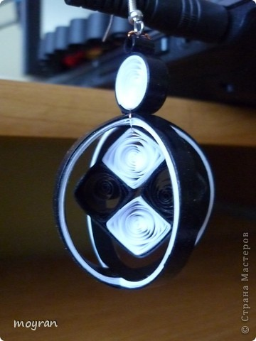 Przechodzę na wyższy poziom w kolczykowym quilling'u! =D Proszę Państwa, oto moje piersze kolczyki 3D! фото 2