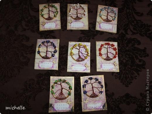 Доброго времени суток жители Страны Мастеров! Решила я сделать серию АТС с деревцами, которые плела по МК http://stranamasterov.ru/node/402981 Есть приглашенные. фото 1