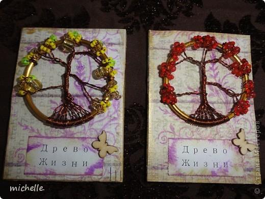 Доброго времени суток жители Страны Мастеров! Решила я сделать серию АТС с деревцами, которые плела по МК http://stranamasterov.ru/node/402981 Есть приглашенные. фото 4