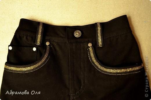 Добрый день, жители Страны!!! Нашла на даче еще одни, отжившие свой век, джинсы мужа. Решила сделать им реанимацию и переделать для сына.  фото 5
