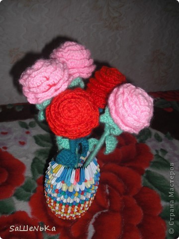 схемы для вязания розы крючком