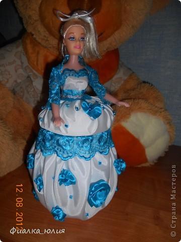 Еще один заказ. Барби с голубыми кружевами. фото 1