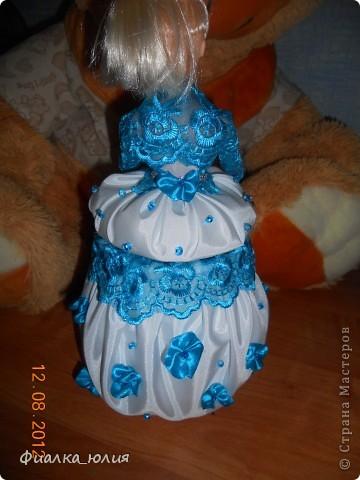 Еще один заказ. Барби с голубыми кружевами. фото 2