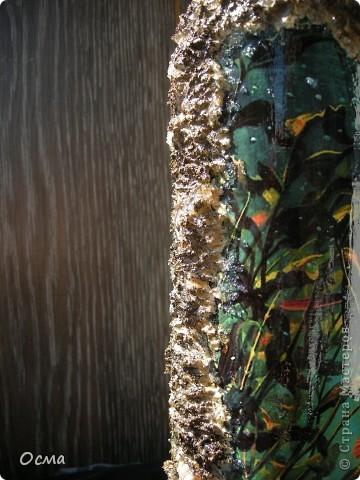"""Здравствуйте! В преддверии Дня рождения моего свекра-заядлого рыбака вспомнила прекрасную работу Марины """"Рыбный день"""", которую увидела в Стране. Решила повторить творческий подвиг, тем более, что никогда не декорировала бутылки. Все бывает в первый раз. фото 12"""
