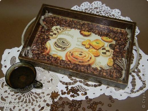 """Добрый день,дорогие мастерицы!!!Давно я не показывала свои работы- вот пришло время.... Мой поднос """"Печенье к кофе"""" фото 2"""
