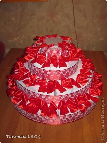 торта из бонбоньерок с