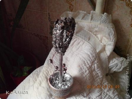 Сердечно-кофейный топиарий фото 7