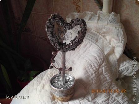 Сердечно-кофейный топиарий фото 9
