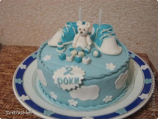 Вот такой тортик у нас родился на День рождения младшего сынули. Мама постаралась. фото 6