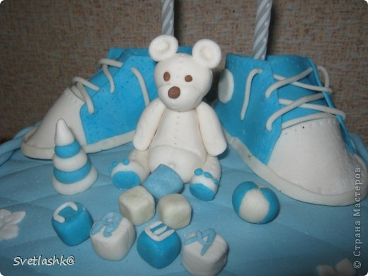 Вот такой тортик у нас родился на День рождения младшего сынули. Мама постаралась. фото 2