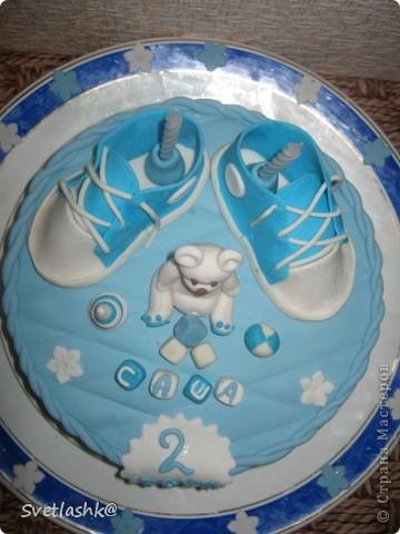 Вот такой тортик у нас родился на День рождения младшего сынули. Мама постаралась. фото 5