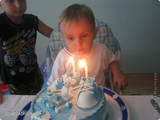 Вот такой тортик у нас родился на День рождения младшего сынули. Мама постаралась. фото 7