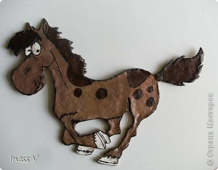 Лошадка из теста для  моей знакомой-любительницы лошадей! Получилось не плохо!! фото 1