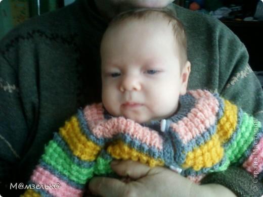 Вязанный сарафанчик для любимой доченьки в садик. фото 2