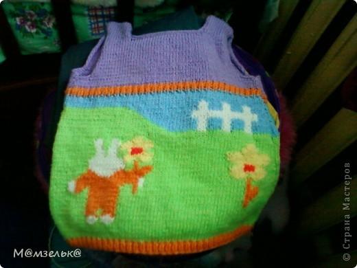 Вязанный сарафанчик для любимой доченьки в садик. фото 1