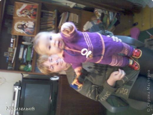 Вязанный сарафанчик для любимой доченьки в садик. фото 6