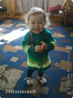 Вязанный сарафанчик для любимой доченьки в садик. фото 8