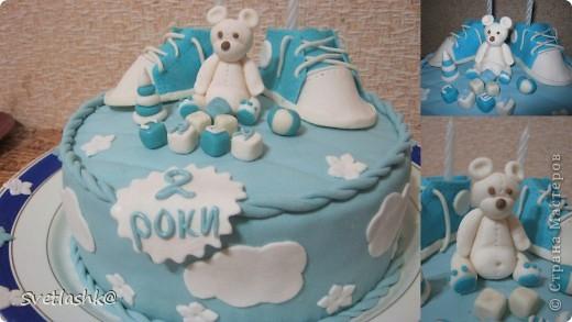 Вот такой тортик у нас родился на День рождения младшего сынули. Мама постаралась. фото 1