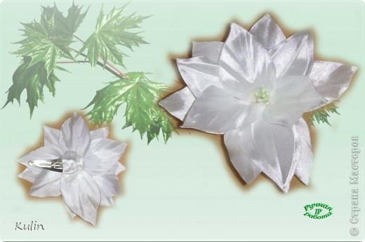 розовые розы (заколка-автомат) фото 5