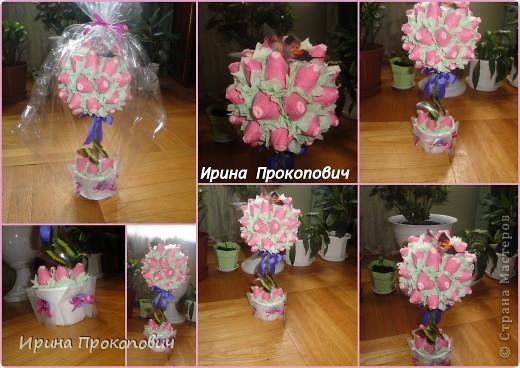 Спасибо Натуле,Л за вдохновление http://stranamasterov.ru/user/7691 и мастерице marina_flora http://stranamasterov.ru/user/22935 Первые  мои розовые деревья, фото 2