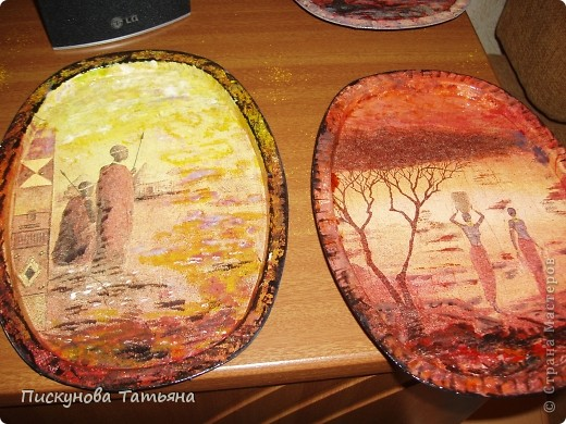 Вот такие тарелочки я сотворила из полюбившихся мне салфеток.... фото 3