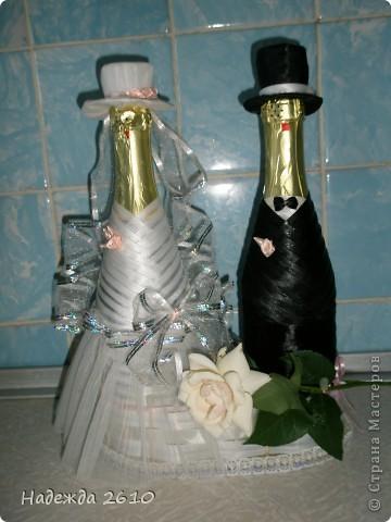 Всем доброго времени суток!Собираясь к сестре на свадьбу, вспомнила, что могу сделать оригинальный подарок, точнее дополнение к подарку... Вот, что у меня получилось... фото 1