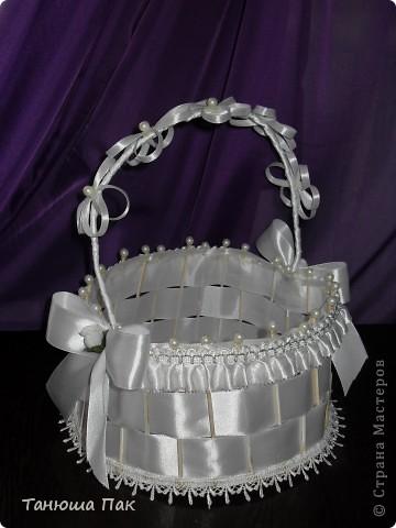 эта корзина для лепестков роз) ну или для конкурсов разных на свадьбу) вобщем кому как нравиться)  фото 1