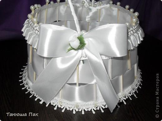 эта корзина для лепестков роз) ну или для конкурсов разных на свадьбу) вобщем кому как нравиться)  фото 2
