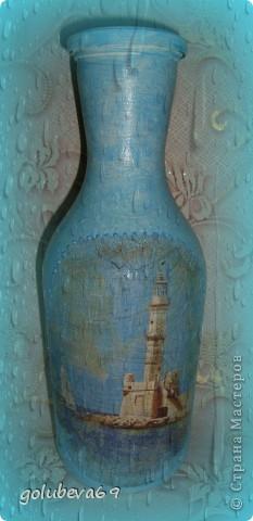 Вазочка в морском стиле, декорированная морскими ракушками. фото 7
