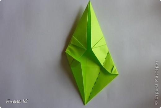 Камптозавр - оригами фото 25
