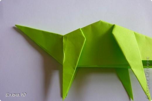 Камптозавр - оригами фото 29