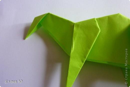 Камптозавр - оригами фото 30