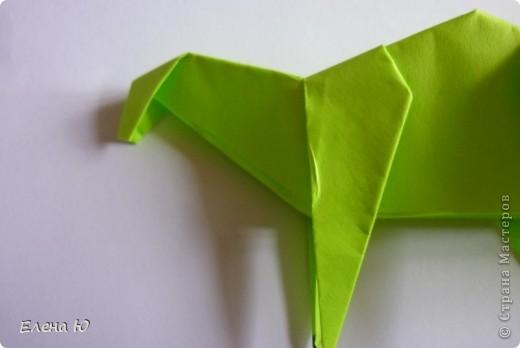 Камптозавр - оригами фото 31