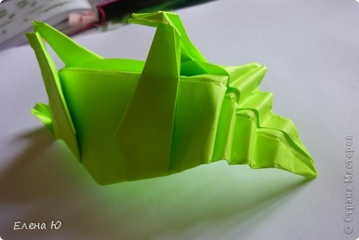 Камптозавр - оригами фото 35