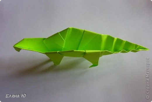 Камптозавр - оригами фото 37