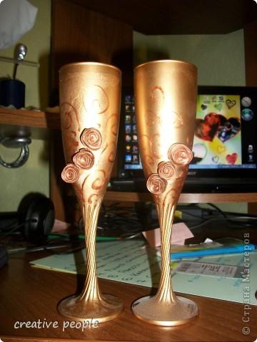 Свадебные бутылки шампанского и замочек с ключиком от нашей счастливой жизни!) фото 2