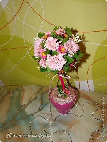 Приветствую всех гостей у себя на страничке!!! Хочу показать вам мое новое деревцо, которое выросло к празднику, дню рождения моей подруги.  фото 2